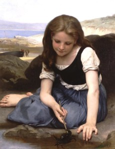 "William Adolphe Bouguereau - ""Le Crabe"" - 31.89"" x 25.79"" - Oil  (1869)"