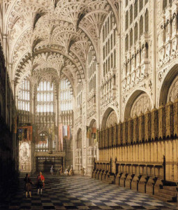 """Canaletto (1697-1768) - """"The Interior of Henry VII's Chapel in Westminster Abbey"""" - 30.5"""" x 26.25"""" - Oil (1750)"""