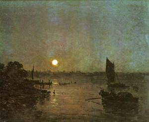 "Joseph Mallord William Turner (1775-1851) - ""Moonlight, A Study at Millbank"" - 12.4"" x 15.94"" - Oil (1797)"