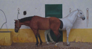 """Melissa Hefferlin - """"Andalusian Dreaming"""" - 39"""" x 79"""" - Oil"""