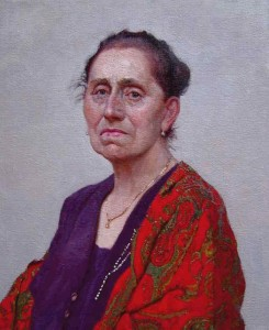 "Daud Akhriev - ""Portrait of the Artist's Mother"" - 20"" x 16"" - Oil"