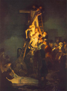 """Rembrandt (1606-1669) - """"Descent from the Cross"""" - 62.2"""" x 46.06"""" - Oil"""