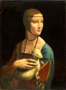 """Leonardo Da Vinci (1452-1519) - """"Portrait of Cecilia Gallerani"""" - 21.47"""" x 15.87"""" - Oil"""