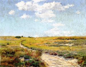 "William Merritt Chase (1849-1916) - ""Sunday Afternoon, Shinnecock Hills"" - 12"" x 15"" - Oil  (1898)"