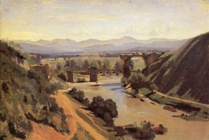 "Jean Baptiste-Camille Corot (1796-1875) - ""The Augustan Bridge at Narni"" - 13.39"" x 18.9"" - Oil   (1826)"