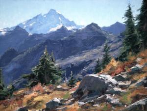 """""""Mount Baker"""" - 12"""" x 16"""" - Oil"""