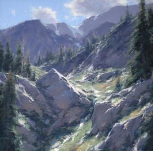"""""""Snowy Pass"""" - 18"""" x 18"""" - Oil"""
