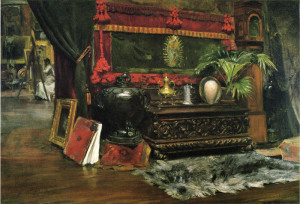"William Merritt Chase (1849-1916) - ""A Corner of My Studio"" - 24.13"" x 36"" - Oil  (1895)"