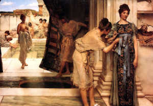 "Sir Lawrence Alma-Tadema (1836-1912) - ""The Frigidarium"" - 17.76"" x 23.5"" - Oil  (1890)"