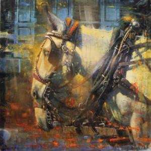 """Halfway Home"" - 30"" x 30"" - Oil  (Dorothy Mellin Driehaus Fellowship Award, Oil Painters of America National - 2016)"