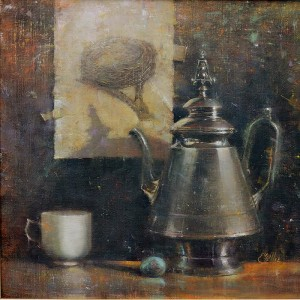 """""""Empty Nest"""" - 16"""" x 16"""" - Oil  (Silver Medal, Oil Painters of America National - 2012)"""