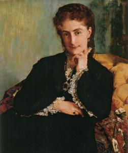 """Paul Jacques Aime Baudry (1828-1886) - """"Portrait de Madame Louis Cezard"""" - 30.31"""" x 25.2"""" - Oil  (1871)"""