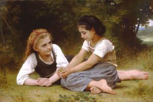 """William Bouguereau (1825-1905) - """"Les Noisettes"""" - 34.45"""" x 52.76"""" - Oil  (1882)"""