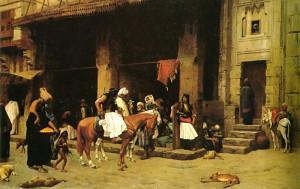 "Jean-Leon Gerome (1824-1904) - ""A Street Scene in Cairo"" - 23.23"" x 36.5"" - Oil  (1870)"