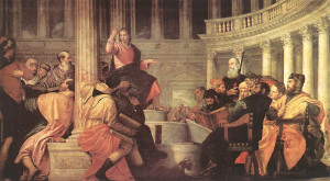 """Paolo Veronese (1528-1588) - """"Jesus Among the Doctors in the Temple"""" - 92.91"""" x 169.29"""" - Oil  (1558)"""