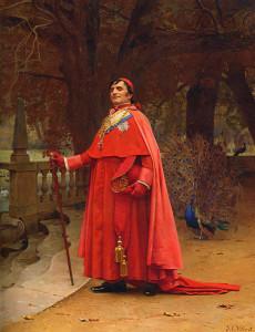 "Jehan Georges Vibert (1840-1902) - ""The Preening Peacock"" - 18.23"" x 14.72"" - Oil"