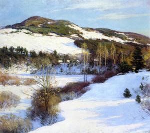 "Willard Leroy Metcalf (1858-1925) - ""Cornish Hills"" - 40"" x 60"" - Oil  (1911)"