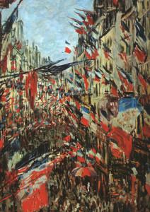 "Claude Monet (1840-1926) - ""Rue Montargueil with Flags"" - (1878)"