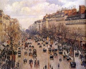 "Camille Pissarro (1830-1903) - ""Boulevard Montmarte""  (1897)"