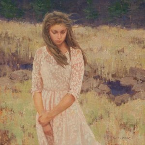 """Diane Frossard - """"By the Creek"""" - 12"""" x 12"""" - Oil"""