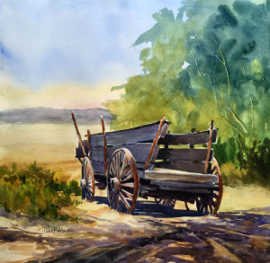 "Tina Bohlman - ""Western Transportation"" - 16"" x 16"" - w/c"