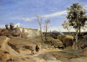 "Camille Corot - ""The-Roman-Countryside"" - 51.18"" x-65.94""  (1830-31)"