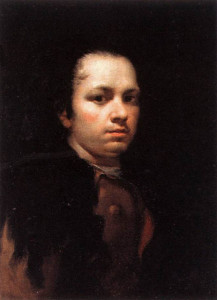 "Francisco de Goya (1746-1828) - ""Self Portrait"" - 22.83"" x 17.32"" - Oil  (1771-75)"