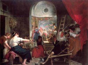 "Diego Rodriguez de Silva Velazquez (1599-1660) - ""The Spinners"" - 46"" x 74.8"" - Oil  (1656)"