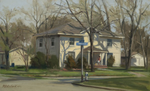 First and Jefferson-Plein Air - 9.68 x 15.75 - w