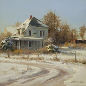 Winter Day - 12 x 12 - w