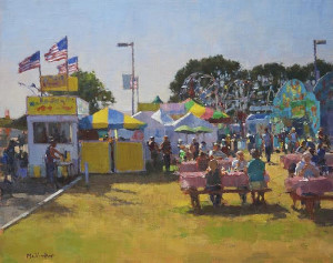 """""""Carnival Food Court"""" - 16"""" x 20"""" - Oil"""