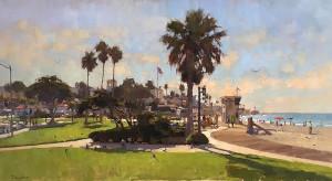 """Main Beach, Laguna"" - 24"" x 40"" - Oil   (Best in Show - 2016 - 18th Annual Laguna Beach Plein Air Invitational, Laguna Beach, CA"