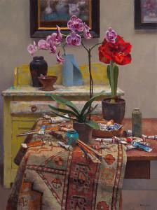 """Studio Still Life"" - 40"" x 30"" - Oil"