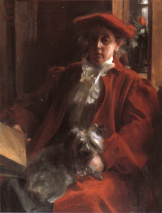 "Anders Zorn (1860-1920) - ""Emma Zorn and Mouch, the dog"" - 38.39"" x 26.57"" - Oil   (1902)"