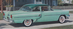 """Wanting to include an old car in order to clarify the narrative, I searched through my """"car"""" file until I found the appropriate car from the correct angle and eye level. That find was an important element contributing to the 'idea'."""