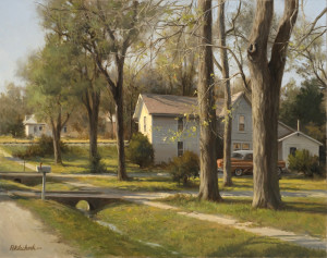 """""""At the Edge of Town"""" - 24"""" x 30"""" - Oil  (You can see the value of having your work professionally photographed)."""