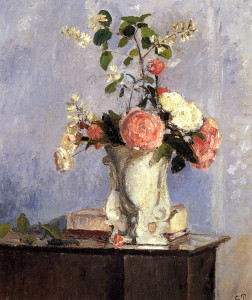 "Camille Pissarro - ""Bouquet of Flowers"" - 21.65"" x 18.27"" - Oil  (1873)"