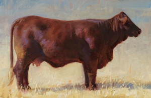 """Brown Cow"" - 6"" x 9"" - Oil"