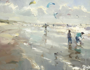 "Roos Schuring - ""Seascape"" - 9.6"" x 11.8"" - Oil"