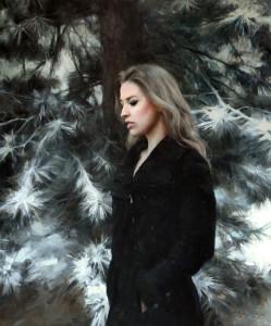 """Anna Rose Bain - """"Silent Snowfall"""" - 36"""" x 30"""" - Oil"""