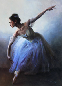 "Anna Rose Bain - ""Vintage Tutu"" - 50"" x 36"" - Oil"