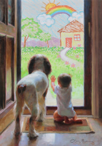 """Anna Rose Bain - """"A World of Possibilities"""" - 20"""" x 14"""" - Oil"""
