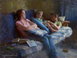 "Adam Clague - ""Babysitters"" - 18"" x 24"" - Oil"