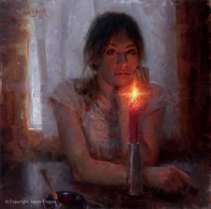 """Adam Clague - """"In Her Eyes"""" - 16"""" x 16"""" - Oil"""