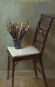 """Andrea Clague - """"Adam's Brushes"""" - 8"""" x 5"""" - Oil"""