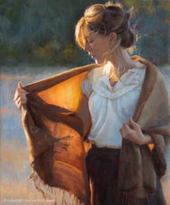 """Andrea Clague - """"Aglow"""" - 24"""" x 20"""" - Oil"""