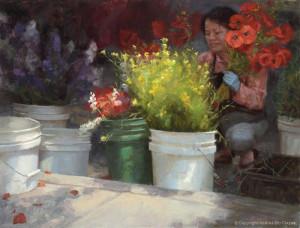 "Andrea Clague - ""Brightening Days"" - 28"" x 36"" - Oil"