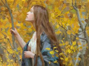 "Andrea Clague - ""In Gratitude"" - 9"" x 12"" - Oil"