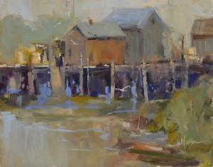 """Ann Larsen - """"Foggy Morning"""" - 8"""" x 10"""" - Oil"""
