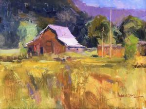 "Ann Larsen - ""Summer Hay"" - 11"" x 14"" - Oil"